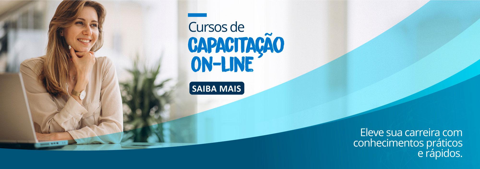 Banner cursos de Capacitação ON-LINE, SAIBA MAIS.